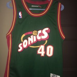 Shawn Kemp Seattle SuperSonics jersey